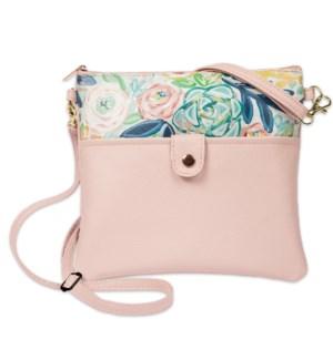Bella Caroline Pale Pink Crossbody Bag