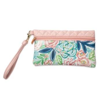 Bella Caroline Pale Pink Travel Wristlet