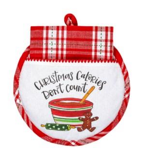 Christmas Calories Hot Pad/Tea Towel Set ETA 7/27