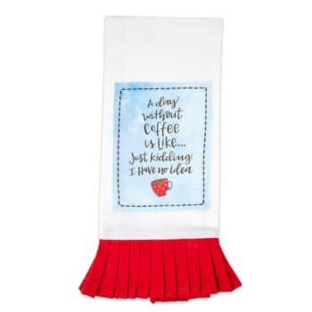 A Day Without Coffee Simply Sassy Tea Towel*