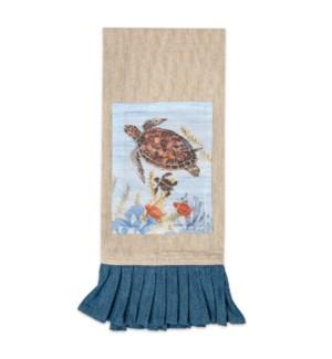 Sea Turtle Coastal Tea Towel