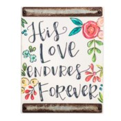 His Love White Wood Block Sign*