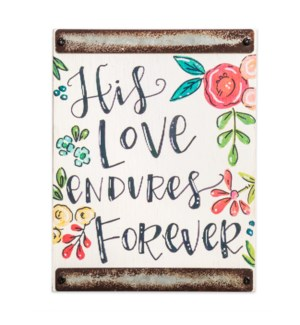 His Love White Wood Block Sign