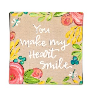 You Make My Heart Smile Miniature Canvas Sign*