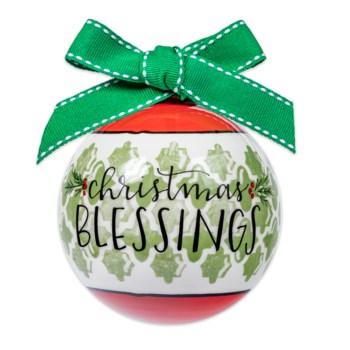 Christmas Blessings Ball Ornament