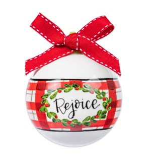 Rejoice Ball Ornament