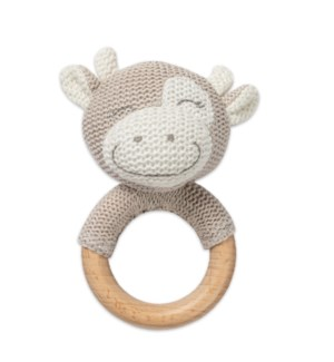 Cow Shaped Teething Rattle*
