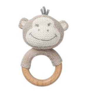Monkey Shaped Teething Rattle*