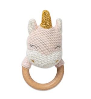 Unicorn Shaped Teething Rattle*
