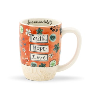 Faith Hope Love Gift Mug
