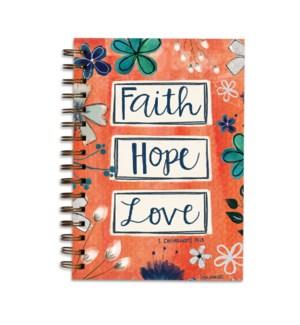 Faith Hope Love Wirebound Journal