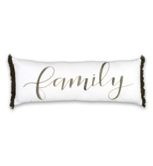 Family Pillow 30x11