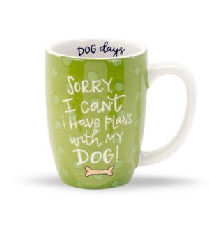 Plans With My Dog Gift Mug