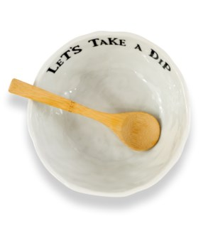 Artisan Home Dip Bowl With Wooden Spoon