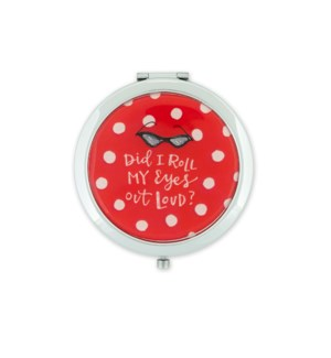 Roll My Eyes Compact Mirror*
