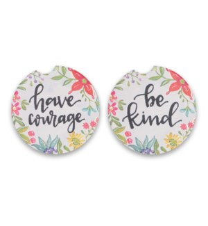 Have Courage 2 Pack Car Coasters