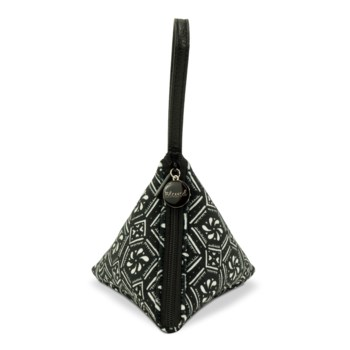 Bella Blessed Black and White Triangle Bag