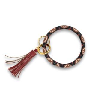 Boho Pinwheel Bangle Keychain
