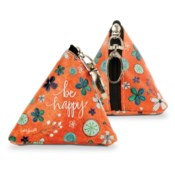 Be Happy Small Triangle Bag