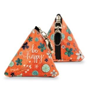 Be Happy Tiny Triangle Bag