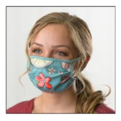 Green Floral Protective Cover Face Mask