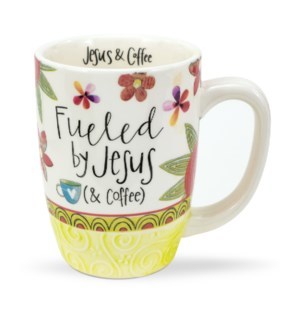 Fueled By Jesus & Coffee Gift Mug