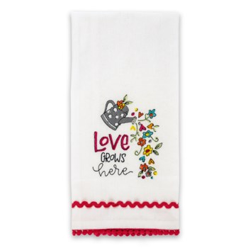 Love Grows Here Tea Towel