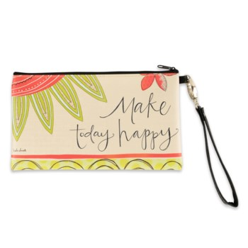 Make Today Happy Zippered Bag