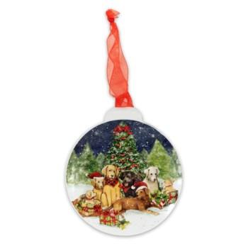 Christmas Dogs Metal Christmas Ornament ETA 6/30