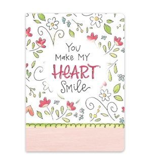 You Make My Heart Smile Softcover Journal