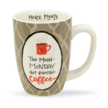 Too Much Monday Not Enough Coffee Mug