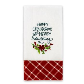 Happy Christmas/Merry Everything Tea Towel