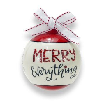Merry Everything Ceramic Ball Ornament