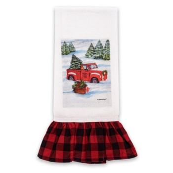 Red Truck Christmas Plaid Tea Towel ETA 7/27
