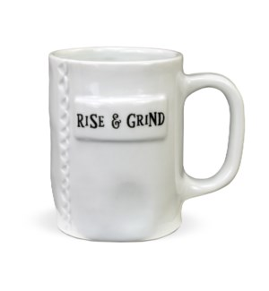 Rise and Grind Artisan Home Mug