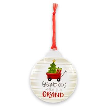 Grandkids Make Life Grand Metal Ornament ETA: 6/30