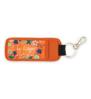 Be Happy Pocket Keychain