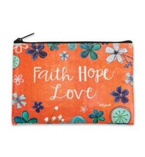 Faith Hope Love Zippered Coin Purse
