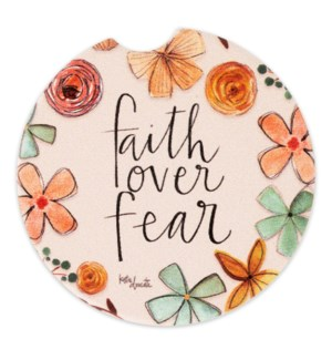 Faith Over Fear Car Coaster