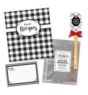 Classic Kitchen White & Black Recipe Collection