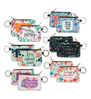 Simple Inspirations ID Wallet Keychain Collection