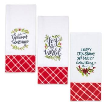 Christmas Embroidered Tea Towel Collection