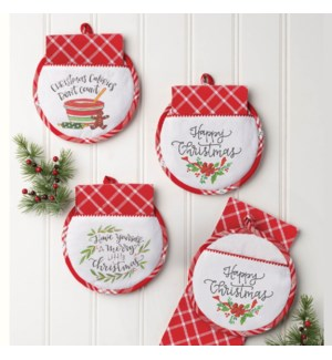 Christmas Hot Pad & Tea Towel Set ETA 6/1