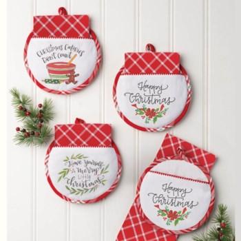 Christmas Hot Pad & Tea Towel Set