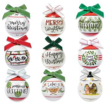 Poreclain Ball Ornaments Collection