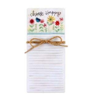 Choose Happy Magnetic List Pad