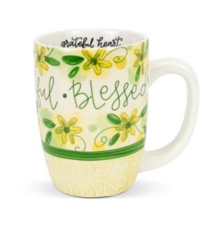 Thankful Grateful Blessed Gift Mug ETA: 7/12