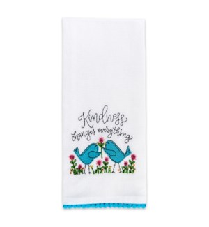 Kindness Changes Everything Embroidered Towel