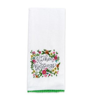 Kitchen Blessings Embroidered Tea Towel