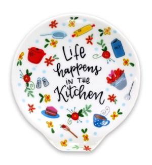 Life Happens In The Kitchen Spoon Rest ETA: 7/23